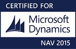 Logo Certified for Microsoft Dynamics NAV 2015